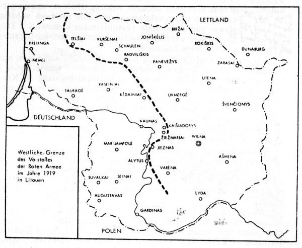 Bolševikų okupuota Lietuvos teritorija