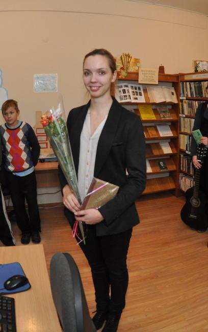 Danguolė Gasinskaitė parodos pristatyme.
